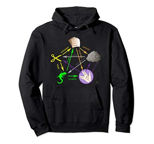 Schere Stein Papier Echse Big Bang Sheldon I Geschenk Pullover Hoodie