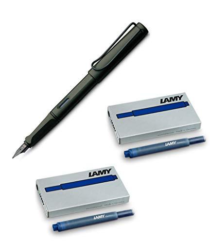 Lamy Safari Umbra Füllhalter 1203065 Kunststoff Umbra M (+ 10 Patronen blau)