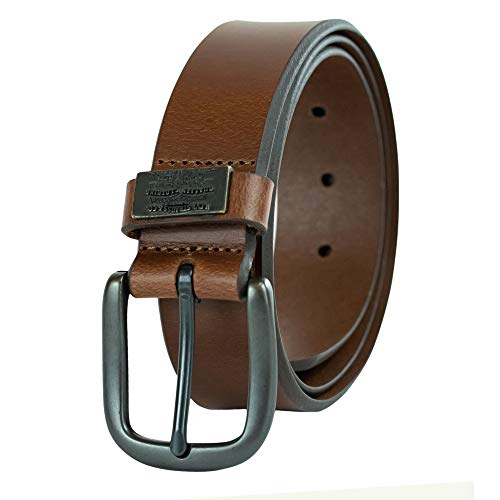 Levi's Men's 100% Leather Belt  with Prong Buckle, Brown, 34