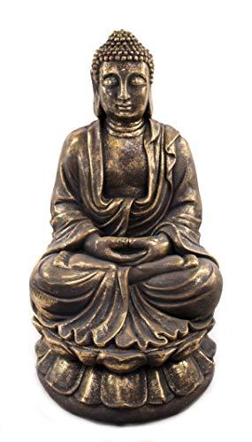 DARO DEKO Buddha Figur XXL sitzend 54 x 92cm Gold