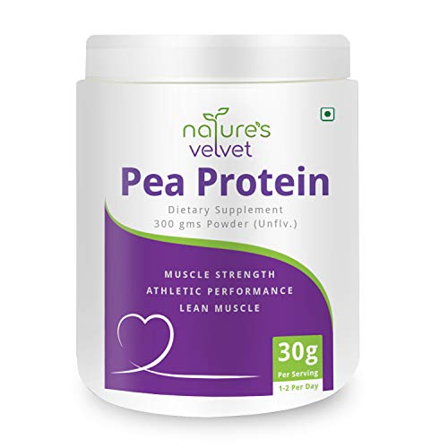 Nature's Velvet Pea Protein Isolate, 100% Vegan & Plant Based Protein, Rich in BCAAs, 300Gms – Pack of 1