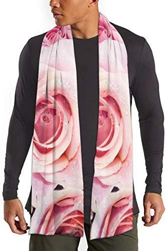 Leuke roze pastelrozen print scarf mode lange scharnieren grote warme schaar voor dames en heren