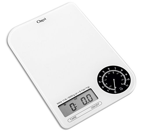 Ozeri Báscula Digital de Cocina Rev con Marcado de Peso electromecánico