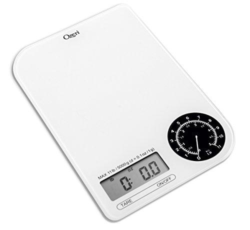 Ozeri Zk18-wb Balance de cuisine numérique Rev avec cadran de pesée électromécanique noir
