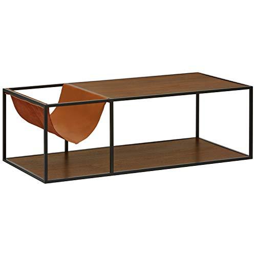 Rivet Heather Modern Coffee Table, 47.2 Inch Width, Walnut