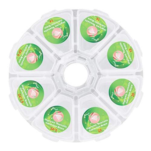 MERIGLARE Clips De Redressage En Plastique Pour Ongles D'orteil Correcteurs D'ongles Autocollants 6 Boîtes