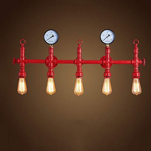 * Robuuste afwerking van de wandlamp van massief ijzer-industrie decoratieve lampen aan de muur Retro American of Water Pipes wandlamp entreeganggang schaal en bar creatief.