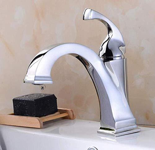Toque Faucet de Cuenca de Cobre sobre el mostrador de la Cuenca Faucet Faucet Faucet Single Hole Placa Placa Color Plazo Grifo Cuadrado (Size : -)