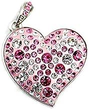 16 Gb Usb 2.0 Brillo Pen Drive de Disco Flash Unidad de Memoria Flash del Estilo del Corazón Rhinestone - Rosa