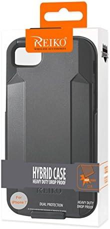 Reiko Wireless Hybrid Heavy Duty Holster Combo Case for iPhone 7 - Black