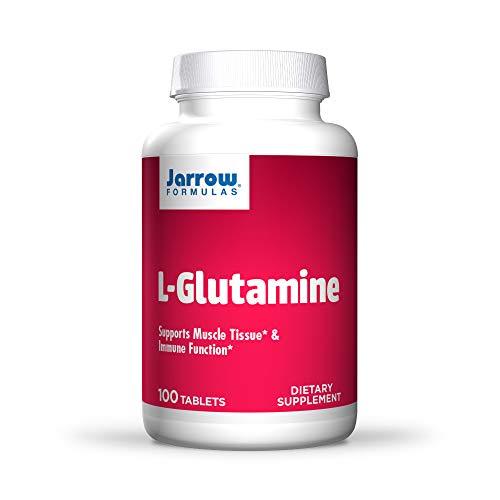 Jarrow Formulas L-Glutamine 1000 mg - 100 Easy-Solv Tablets - Supports Muscle Tissue & Immune Function - 100% L-Glutamine - 100 Servings