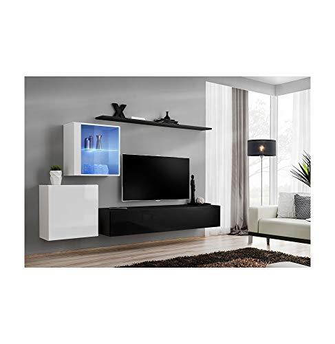 ASM Ensemble TV - 4 éléments - Blanc et Noir