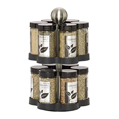 Kamenstein Madison 12-Jar Revolving Spice Rack with Free Spice Refills for 5 Years