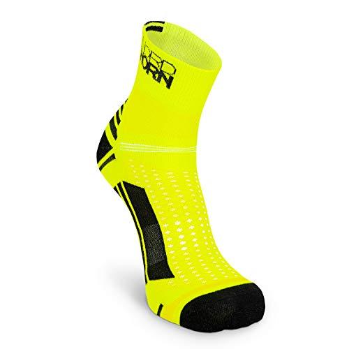 Nordhorn Sportsocken für Herren und Damen, Quarter Sneaker Socken Atmungsaktiv zum Laufen, Joggen, Fitness, Radfahren (Gelb, 38-40)