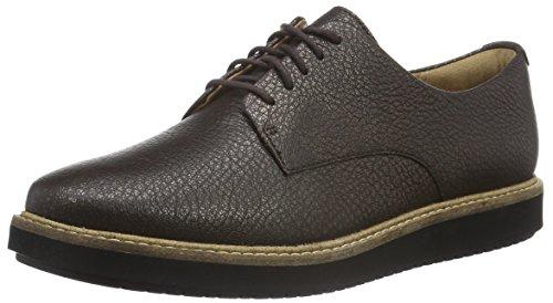 Clarks Damen Glick Darby Derby, Braun (Dark Brown Metallic Leather), 41.5 EU