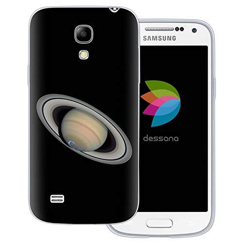 dessana Planeten transparente Schutzhülle Handy Case Cover Tasche für Samsung Galaxy S4 Mini Saturn
