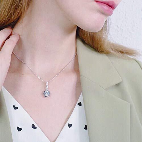 NVTHINH Classic 925 Sterling Silver Fine Jewelry Trendy Engagement Necklaces Pendants for Women Wedding Pendants Bijoux P064