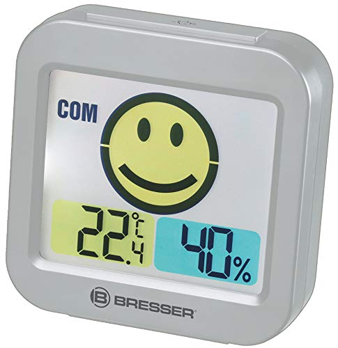 Bresser 7007450QT5000 Thermometer Hygrometer, grau