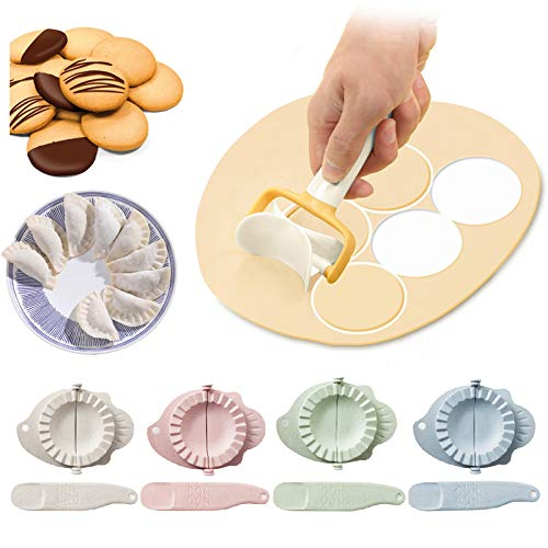 No-Branded Pressa per stampi per gnocchi, Pressa per pasta per stampi per gnocchi tagliapasta per gnocchi e cucchiaio per ripieno ravioli dumpling maker set per accessori da cucina, (9 pezzi)