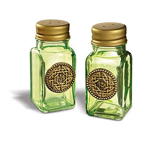 Grasslands Road Celtic Salt And Pepper Shaker Set - Kitchen Resturant Accessories, Glass And Metal