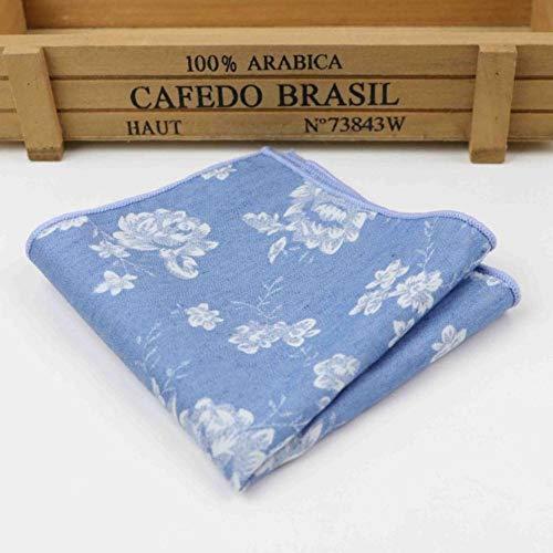 Boner Vintage zakdoek sjaals katoenen zakdoeken heren pochet zakdoeken Rose Flower Paisley, 13