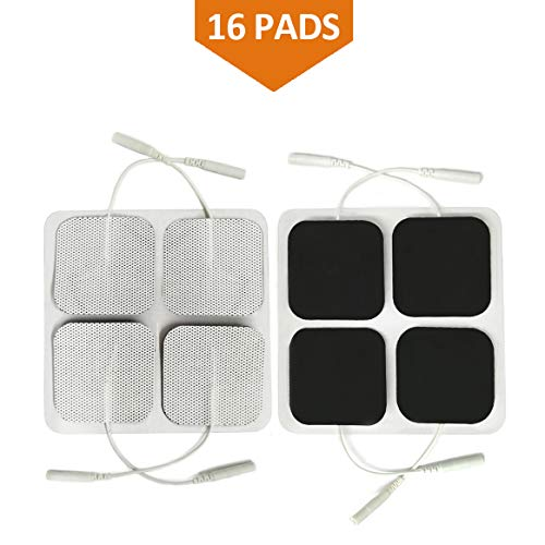 16 Pads of Easy@home 2x 2 TENS Unit Reuseable Self Stick Carbon Electrode Pad - Non Irritating Design
