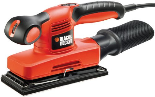 BLACK+DECKER 240 W Orbital Sander Power Tool 1 3 Sheet with Kitbox, KA320EKA-GB
