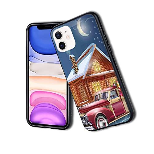 Funda protectora híbrida a prueba de golpes, diseño moderno, de lujo, con diseño de árbol y camión americano, ideal para iPhone