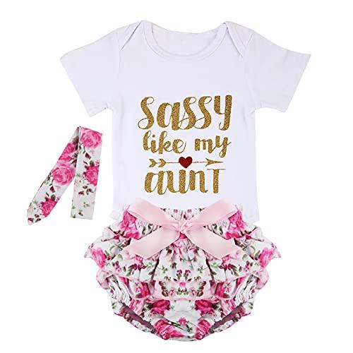 NCONCO Conjunto de ropa para recién nacido, mameluco con tutú floral y diadema, blanco, 6-12 Meses