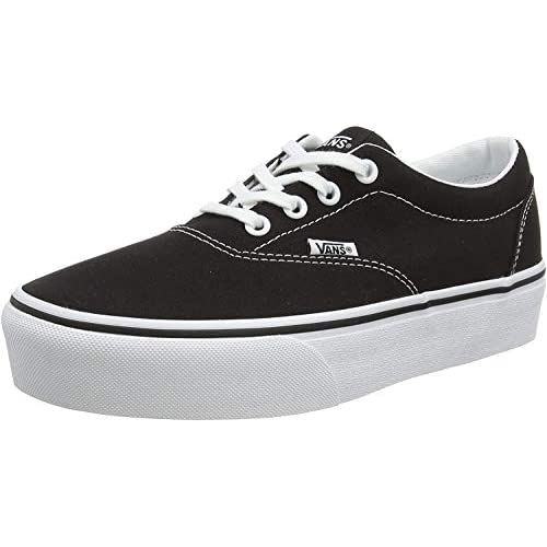 Vans Doheny Platform, Sneaker Donna, Nero ((Canvas) Black/White 187), 38 EU