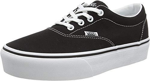 Vans Doheny Platform, Zapatillas para Mujer, Lienzo Negro Blanco 187, 38 EU
