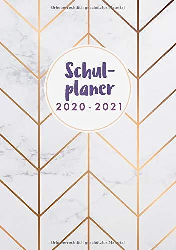 Schulplaner 2020 2021 Marmor: Schülerkalender 2020 2021 A5 | Motif Marmor | August 2020 bis Juli 2021 | Das Hausaufgabenheft 2020/2021 A5 | Planer Schule 2020/2021