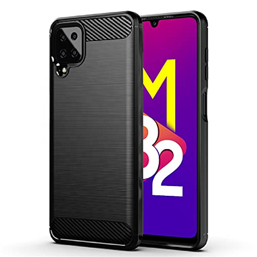 Amazon Brand – Solimo Protective Mobile Cover (Soft & Flexible Back Case) for Samsung Galaxy M32 (Black)