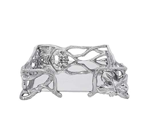 Arthur Court Designs Aluminum Grape Napkin Box
