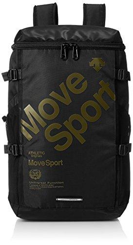 [デサント] リュック MoveSports スクエアバックパック ブラックカーキ