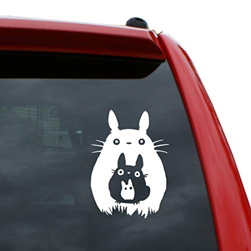 """Studio Ghibli/Totoro Stacked Vinyl Decal Sticker 