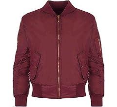 NOROZE Girls Boys Kids Plain MA1 US Air Pilot Zip Up Biker Bomber Padded Jacket Coat
