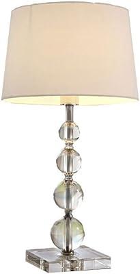 Lux.pro] Lámpara de mesa moderna (E14) - Cromo, blanco ...