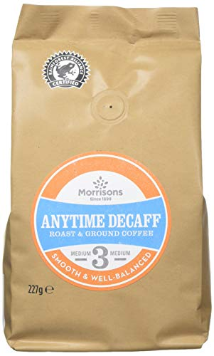 Morrisons Anytime Decaf Ground Coffee, 227 g, Pack of 6