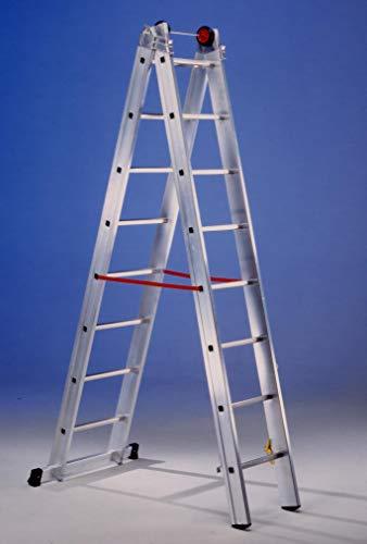 Svelt - Escalera Mixta Aluminio 2X12 Peldaños Hasta 6,02 Mt E212