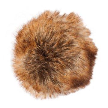 Kunstfell Pompon - Farbe braun-Zimt 026 - Durchmesser 10cm - für individuelle Designs!