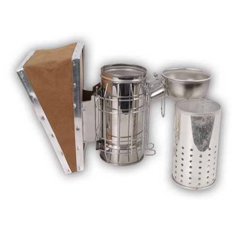 Bee Smoker - German Design for Beekeeper Heavy Duty Stainless Steel...