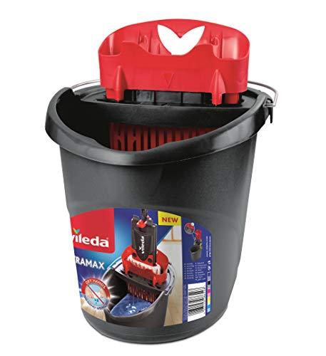 Vileda 4023103201415UltraMax Power Eimer und Presse, schwarz und rot
