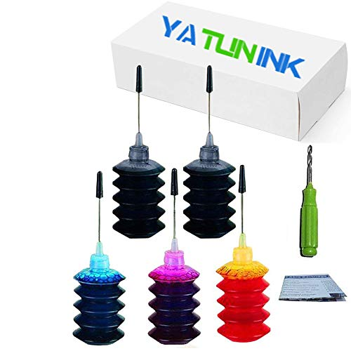 YATUNINK Refill Ink Refill Kit Replacement for Canon PG-245XL Cl-246XL Refill Ink Kit PIXMA MG2922 MG2924 MG2420 MG2522 MG2525 MG3020 MG2555 MX490 MX492 Printer (2x30ML BK+1x30ML C+1x30ML M +1x30ML Y)
