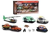 Majorette - Coffret Explorer - Voitures Miniatures en Métal - Thème Safari + Animaux - 212057620