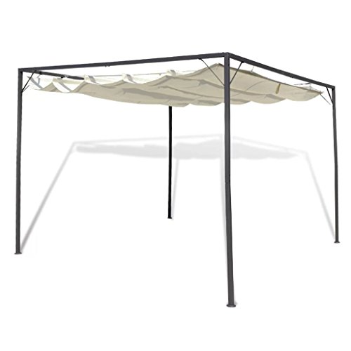 Gecheer Garden Gazebo with Retractable Roof Canopy, Camp Shelter,Water and Resistant