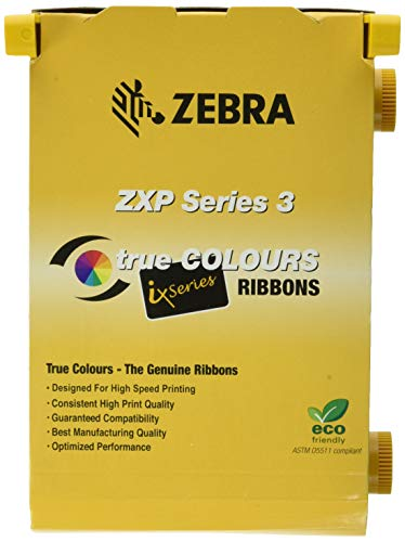 Zebra 2pack-800033-340 True Colours iSeries High-capacity YMCKO Color Ribbon for ZXP Series 3 Card Printers. Replaces Zebra 800033-340. 560 Total Prints.