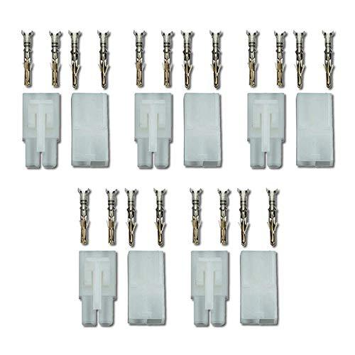 5 Paar 10 Stück Premium Nylon Japan 13,5mm Stecker Steckverbinder Buchse Male Female 13,5mm 10A Pins Crimpen Löten Verpolsicher Kupplung für Lipo Akku kompatibel zu Tamiya Led Car RC Modellbau