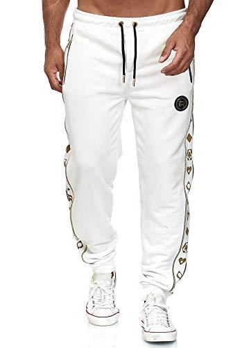 Redbridge Herren Jogginghose Jogger Hose Sweat-Pants R-Logo Premium Weiß S