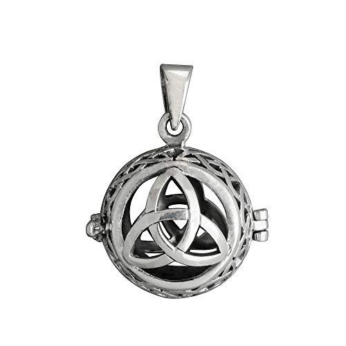 Colgante de plata de ley 925 con forma de árbol de la vida de Harmony Ball. Colgante de jaula Wica Pagan de 8 g de plata de ley 925 Beldiamo.